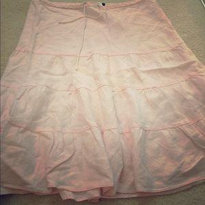 Pink J.Crew Linen Skirt